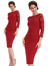 Goddiva Red Scallop Lace Fitted Wiggle Marcella Cocktail Evening Party Dress 12
