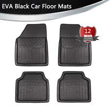 Small Squares EVA Floor Mat For Car Auto Universal 4 Piece Full Set Waterproof