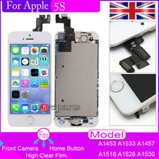 For Apple iPhone 5S Screen Replacement Touch LCD Display +Buttonn +Camera White