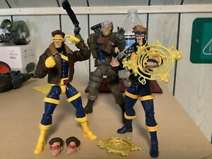 Marvel Legends X-Men X-Force Sasquatch BAF Wave Cable, Cyclops & Havoc Lot 2018