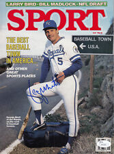 George Brett JSA SIGNED RARE 1986 MAGAZINE KC Royals Hall of Fame AUTOGRAPHED