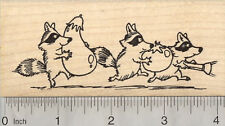 Garden Bandits Rubber Stamp, Raccoon Stealing Vegetables K28703 WM