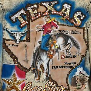 Tony Alamo Swarovski Crystal Rhinestone Studded Ladies Jacket TEXAS denim M
