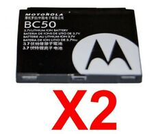 Lot Of 2 Oem Motorola Bc50 Bc-50 Battery for V3X Z3 Rokr Z6m Slvr L2 L6