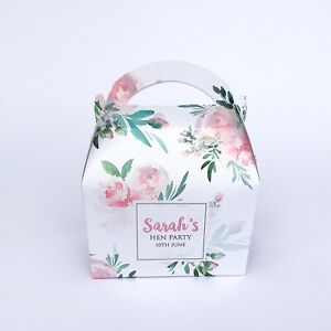 Personalised Floral Baby Shower Party Favour Gift Box Hen Night