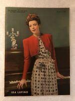Vintage 1940 IDA LUPINO Coloroto Colorfoto New York Sunday News 11x15 Photo Rare