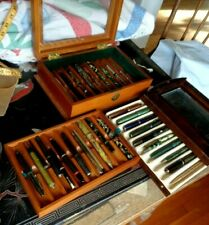 31 Vintage Antique Fountain Pen Pencil Lot + 2 wood cases 14K Shaeffer Parker