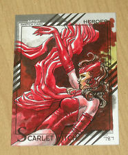 2015 Marvel Fleer Retro base character sketch Joe St Pierre #44 SCARLET WITCH