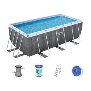 Bestway pool 56722 frame cm412x201x122h pump ladder filter dispenser