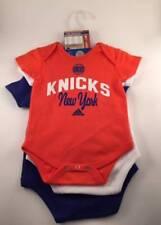 NBA New York Knicks Adidas Infant/Baby Boys 3 Piece Bodysuit/Romper Set 12 Month