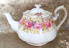 "Vintage ROYAL ALBERT ENGLAND ""SERENA"" Floral FINE BONE CHINA Teapot - T11"