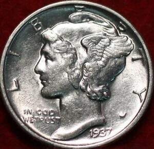Uncirculated 1937 Philadelphia Mint Silver Mercury Dime