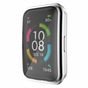 For Huawei Band 6 Honor Band 6 Silicone Watch Band Strap Full Screen Cover Case