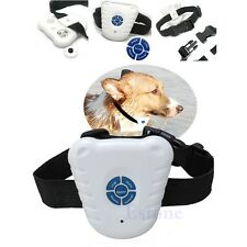 Safe Ultrasonic Dog Pet Stop Barking Anti Bark Training Trainer Control Collar