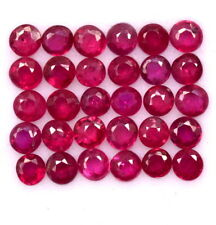 0.63 Cts Natural Ruby Round Cut 2 mm Lot 15 Pcs Calibrated Loose Gemstones