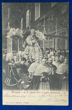"""SUA SANTITA' LEONE XIII in sedia Gestatoria no viagg """"900  f/p #17546"""