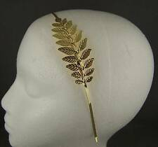 gold leaf leaves metal thin skinny headband hair head piece tiara band laurel
