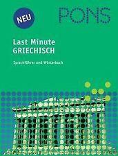 PONS Last Minute Sprachführer, Griechisch von Dimit... | Buch | Zustand sehr gut