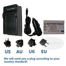 Battery + charger For NIKON EN-EL11 PENTAX D-LI78 OLYMPUS Li-60B RICOH DB-80