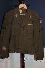 Original WW2 U.S. Army Engineer's Washington DC Patched Uniform Jacket, 1945 d.
