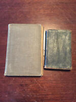 Set of 2 Books Luther League Hymn 1913 and Pocket Size New Testament Bible 1873