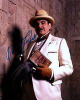 DAVID SUCHET signed Autogramm 20x25cm HERCULE POIROT in Person autograph