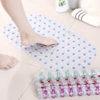 PVC SUCTION Rubber Bath Bathroom Bubble Shower Mat Anti-Slip Rectangle Newest