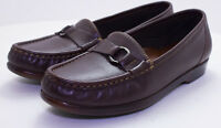 SAS Women's Tripad Comfort Size 8 1/2 N Brown Leather Loafers Slip On's