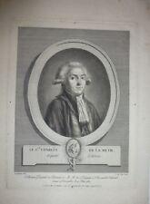 Eau forte et aquatinte de ALIX, Le Comte C. de la Meth