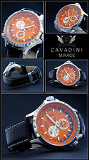 Luxury Complete Calendar -GMT - Cavadini Watch Tachymeter Swivelling Ring in