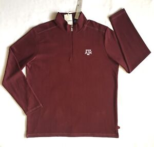 Tommy Bahama Texas A&M Aggies Half-zip Size XLT Maroon Long Sleeve Sweater NWT