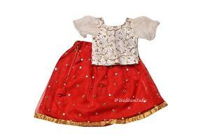 Little Girls Lehenga Choli Readymade Ethnic Wear Kids Lehenga, Festive Wear
