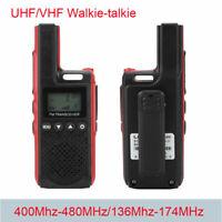 Mini Business Handheld Walkie Talkie Dual Band UHF/VHF Two Way Radio Transceiver
