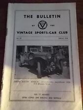 Vtg Sports Car club Bulletin NO 58 1958 HESTON MEASHAM BUGATTIS GENEVA CAR SHOW