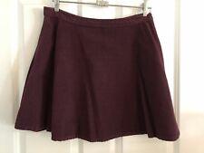 American Apparel Burgundy Corduroy Circle Skirt Size L