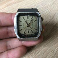 Watch Poljot Alarm Signal cal. 2612.1 18 Jewels Wristwatch Russia USSR Soviet