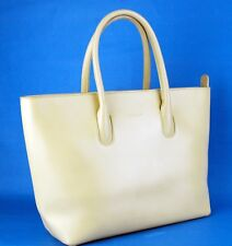 Authentic Furla Beige Genuine Leather Women Hand Bag Shoulder Bag Bags Italy
