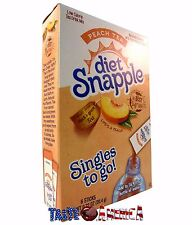Diet Snapple Singles To Go Drink Mix Peach Tea Iced Tea Mix 19.2g 6 Sachet Box