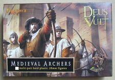 Fireforge - Deus Vult - MEDIEVAL ARCHERS - 28mm -  4 MODELS Middle Ages/Conquest