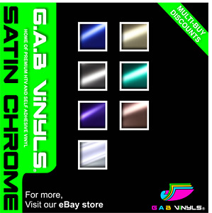 Satin Chrome Self Adhesive Vinyl - Permanent Vinyl - G.A.B Vinyls - A4 Sheet