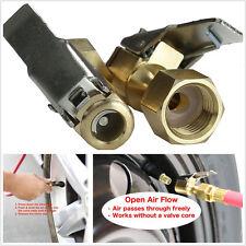 2pcs Brass Female Clip-on 1/4'' NPT Inflater Air Chuck Clip For Car Truck Wheel