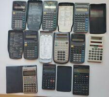 Lot of Vintage Handheld Calculators Texas Instrument, Casio, Radio Shack, Sharp
