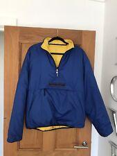 Chemise homme Ralph Lauren Sport Jaune & Bleu Marine Réversible Gilet 3/4 zip veste manteau M