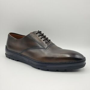 Bally RENNO/512 Men's Shaded Medium Brown Leather Lace Up Dress Shoe