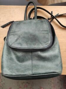 Jobis Navy leather Backpack bag