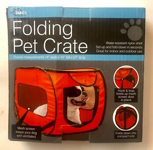 Dog Crate Travel Soft Folding Pet Cat Car Kennel Collapsible Pop Up Crate Sm/Md