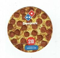 Dominos Gift Card / Die-Cut Pepperoni PIZZA / Food / No Value ~ I Combine Ship