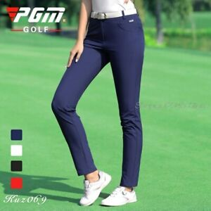 PGM Women Autumn Sport Pants Spring Tennis Baseball Pant Slim Elastic Breathable