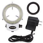 AmScope Adjustable 144 LED Ring Light Illuminator for Stereo Microscope & Camera