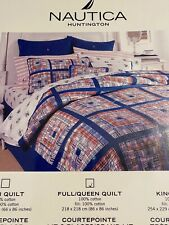 "NAUTICA ""Huntington"" Full/ Queen Size Quilt & 4 Matching Shams"